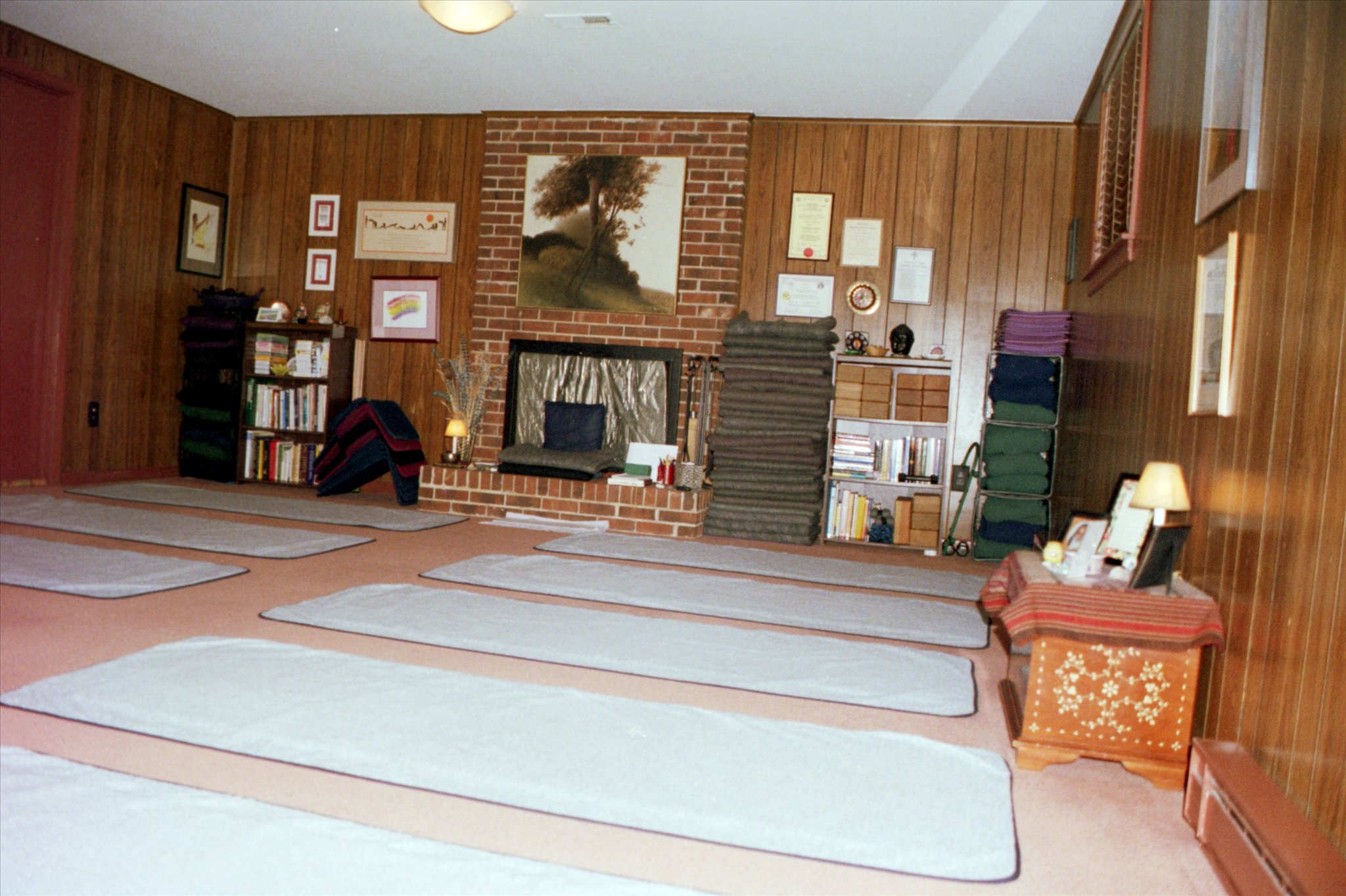 Wider view of the studio.